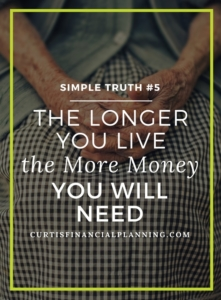Retirement Planning Truth - The Longer You Live the More Money You Will Need