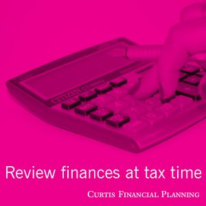 Review finances at tax time